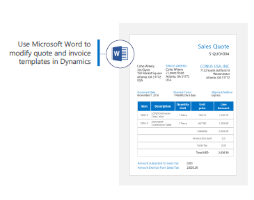 Use Microsoft Word to modify quote and invoice templates in Dynamics