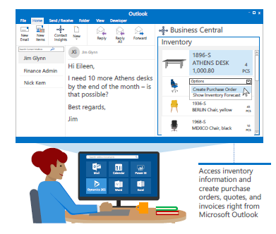 business owner work with Microsoft Outlook